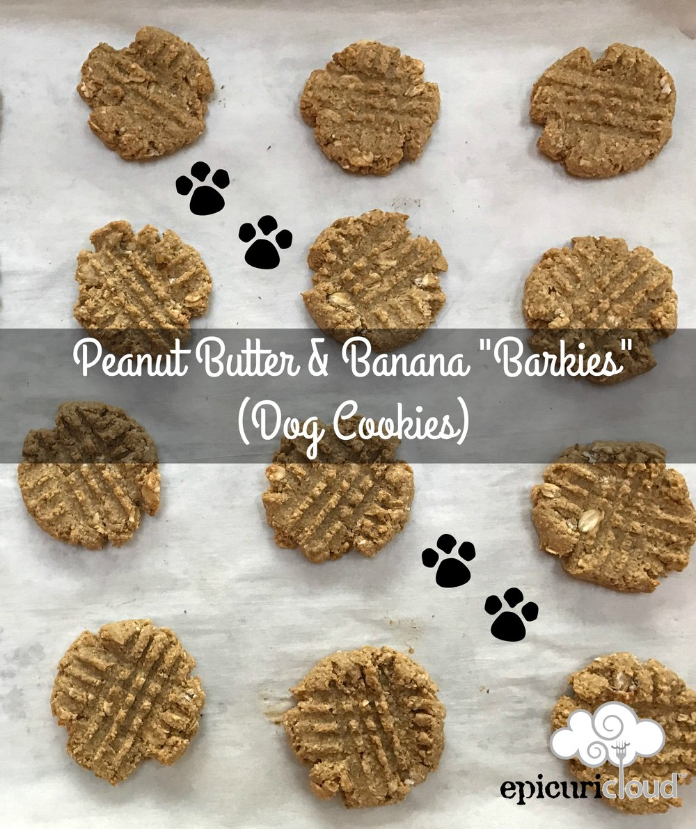 peanut butter and banana barkies - epicuricloud.com