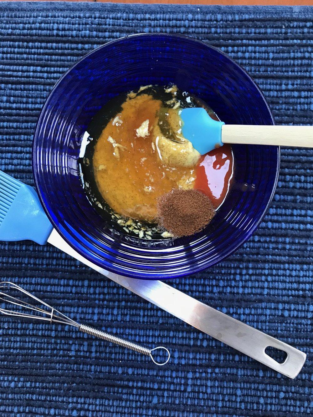 Stir together glaze ingredients.