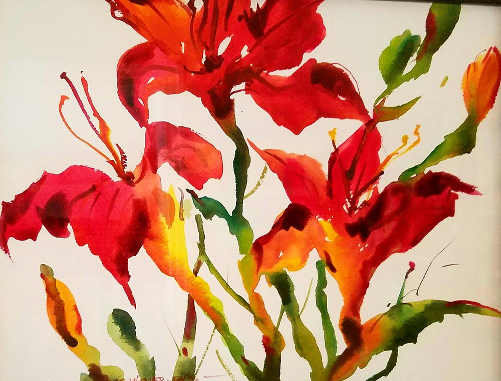 Pat Weaver's Red Day Lillies
