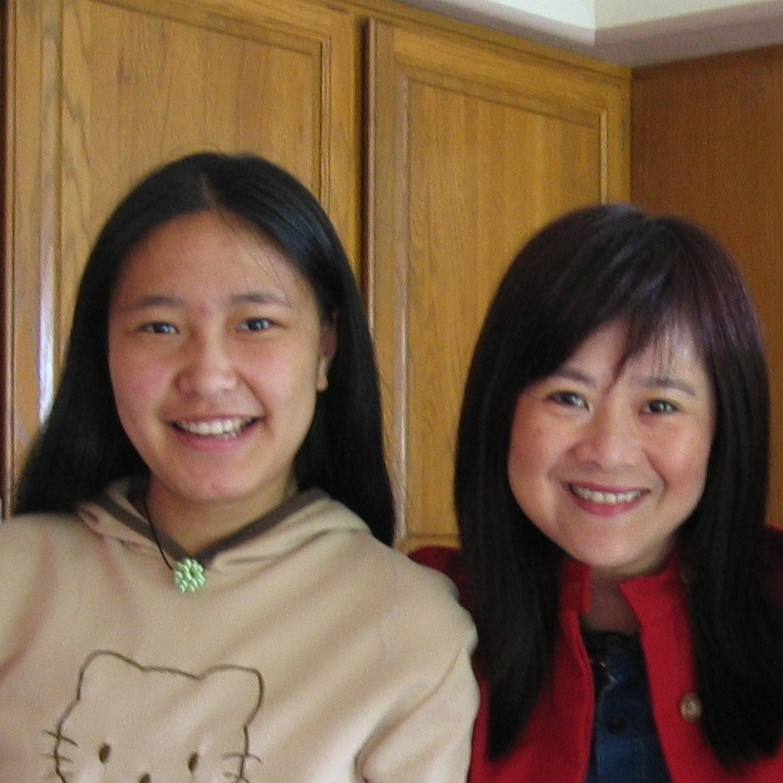 Bingjie with Mrs. Siew Mei Cheung