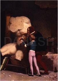 Michelangelo Being Shown the Belvedere Torso (Jean-Leo Gerome, 1849)
