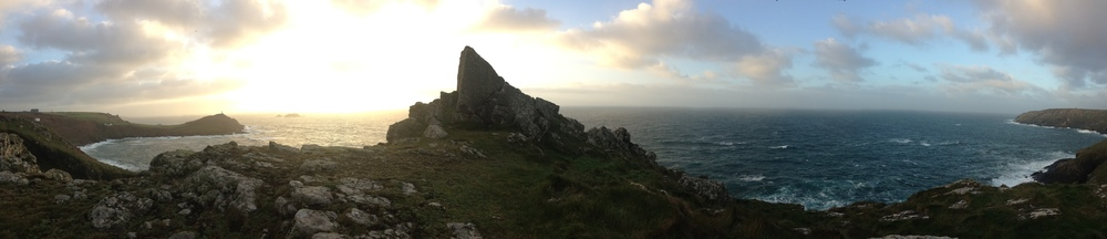 Looking back at Cape Cornwall from South Zown. Day 11.