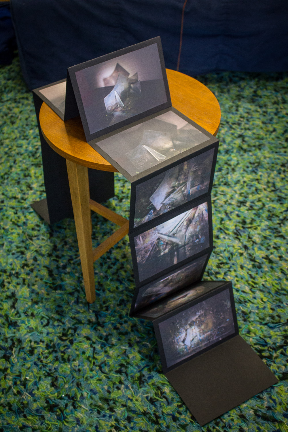 Glorifying The Struggles of Others  (Photographic book and installation of glass from Brison Veor's midden and marks of prevous artists). Day 2.