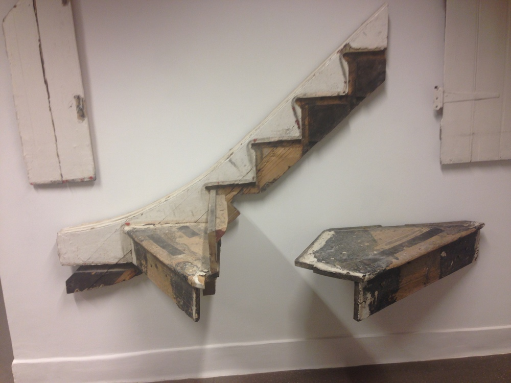 Jimi Hendrix's staircase at the Foundling Mueum, by Cornelia Parker