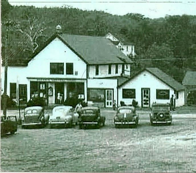The Wading River General Store during the 1940s.  The store had been around since the early part of the 20th Century and was a great hangout for kids.