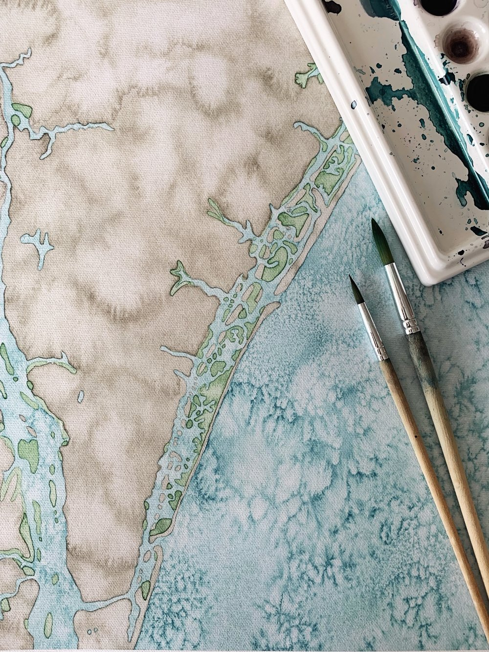 Coming soon… - New Coastal Art Map sizes, framing options & locations, all printed to order on an even more luxurious canvas.Subscribe to my email list at the bottom of the page to be notified when the new maps are available. Until then, shop existing maps on SALE!