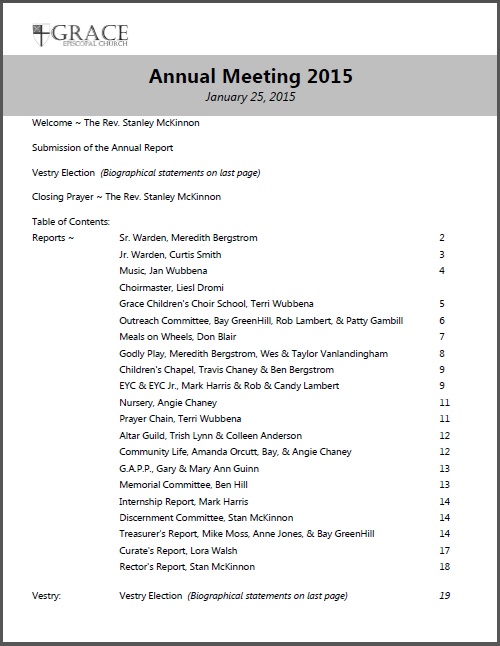 Click here to open our Annual Meeting packet.