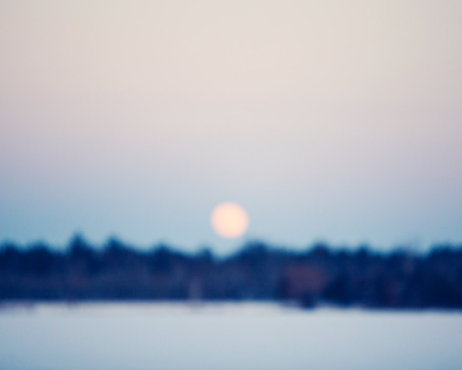 Moonset /// Grayling, MI.