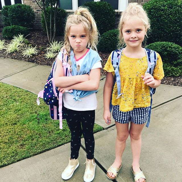 First day of school reality .... #twinlife #backtoschool