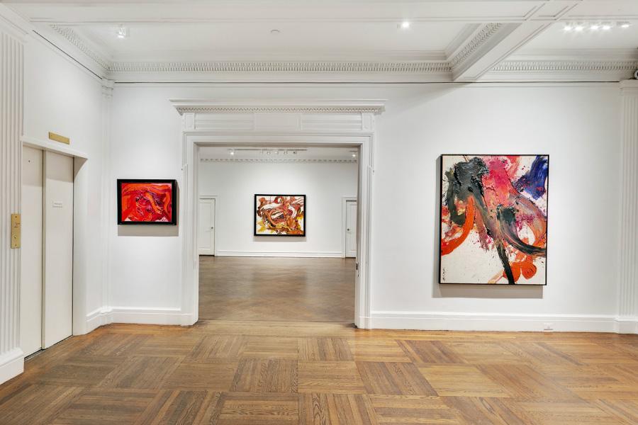 Kazuo Shiraga, Mnuchin Gallery, 2015