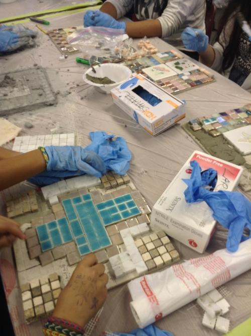 Davidson Middle School Fall 2013 Mosaic Project (1).JPG