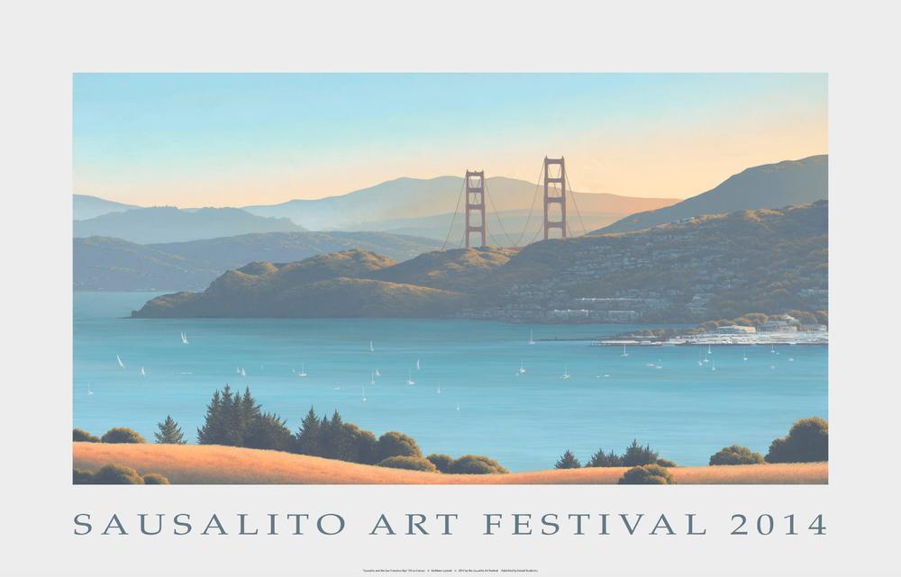 2014 Sausalito Art Festival Poster By Kathleen Lipinski