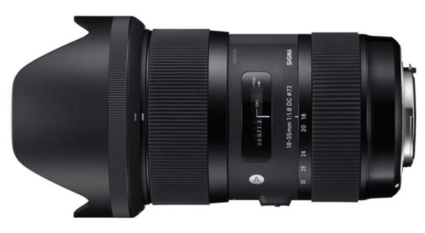 Sigma 18-35mm f/1.8 APS-C zoom lens