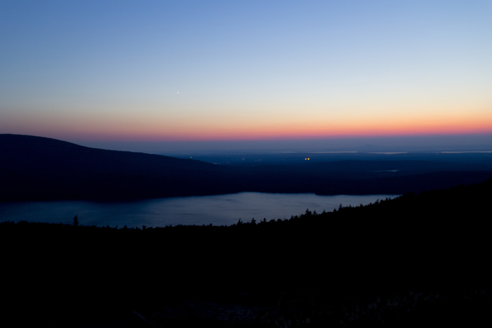 Sunset at Cadillac Mountain - Acadia National Park
