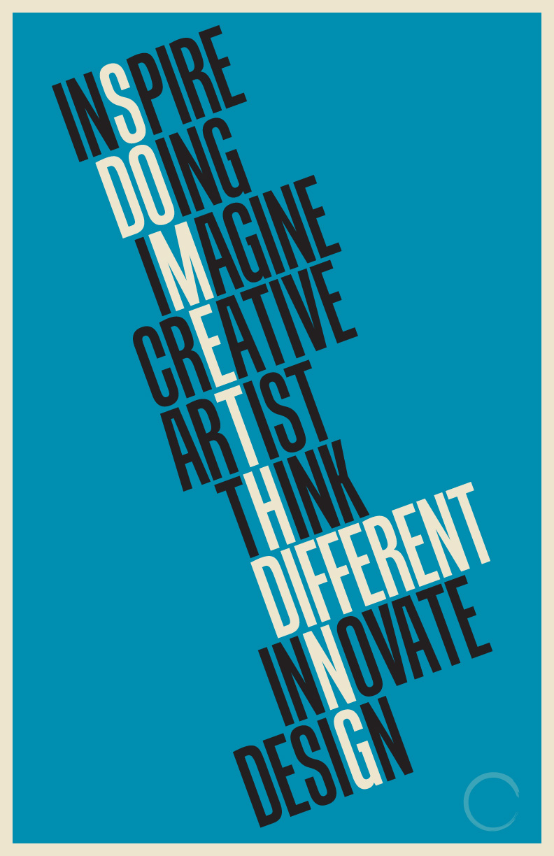 Do Something Different type poster