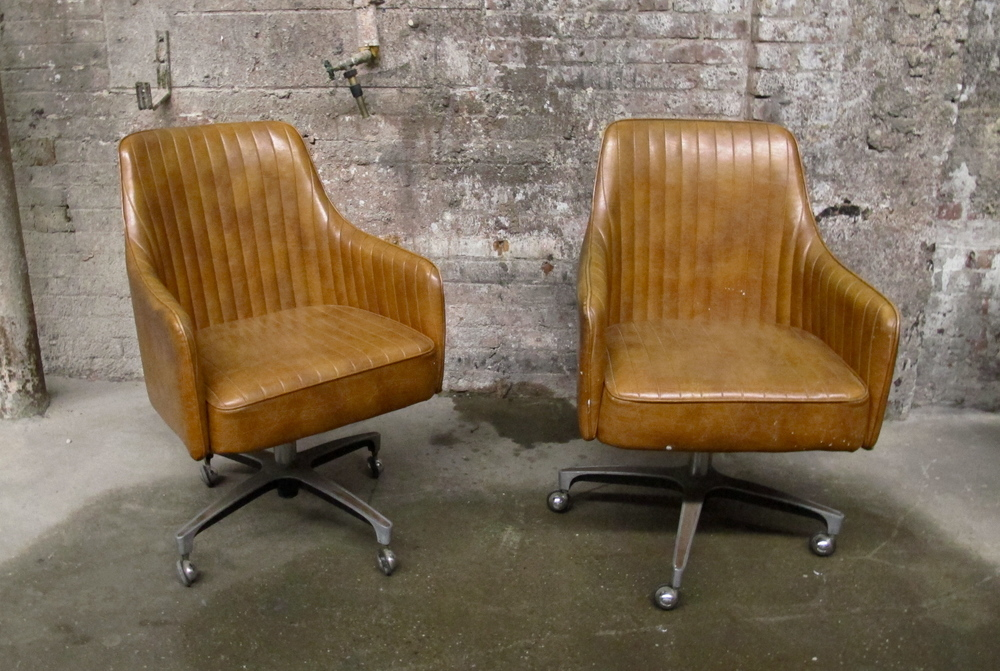 Leather Rolling Chairs $80/ea