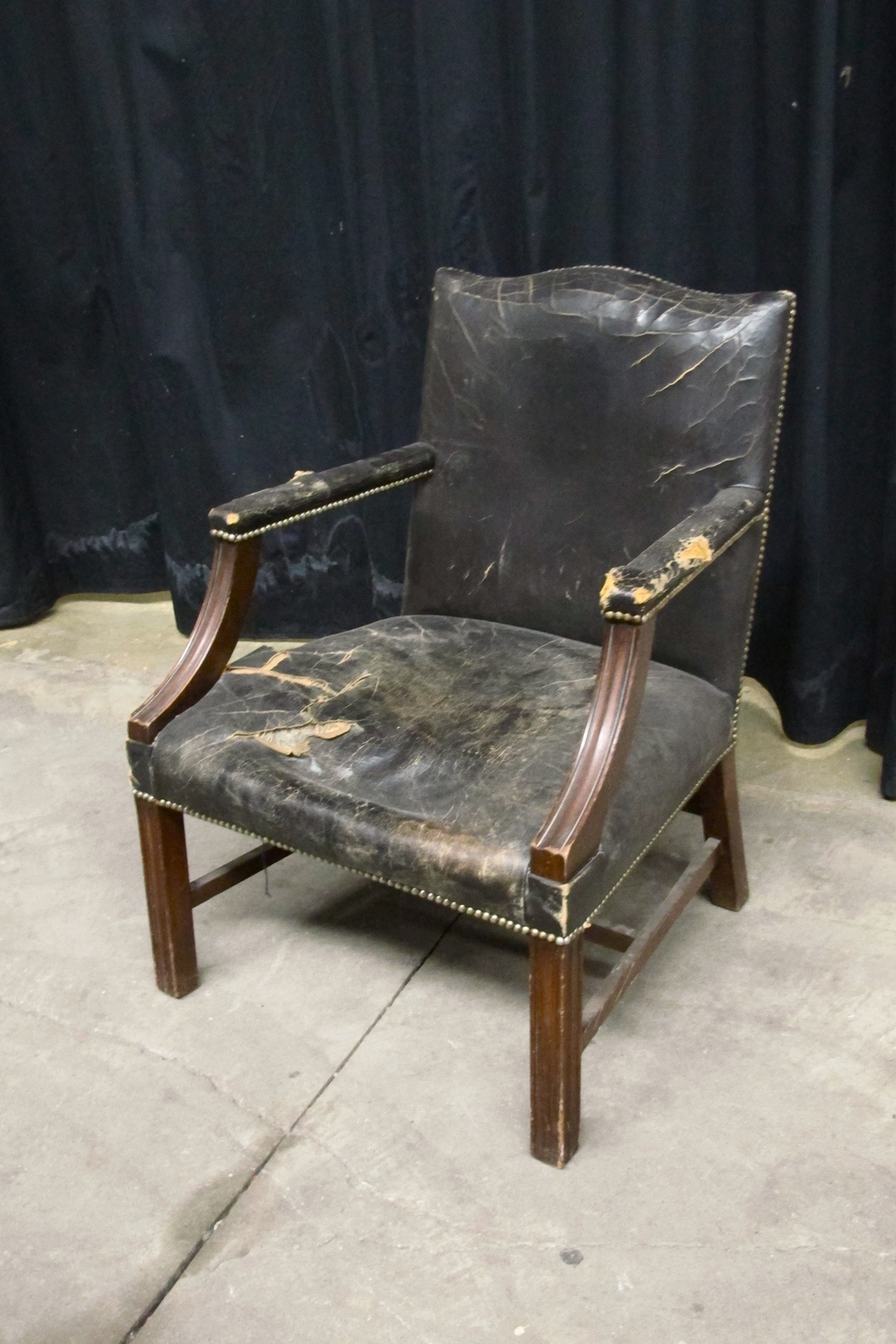 Black Leather Armchair $250