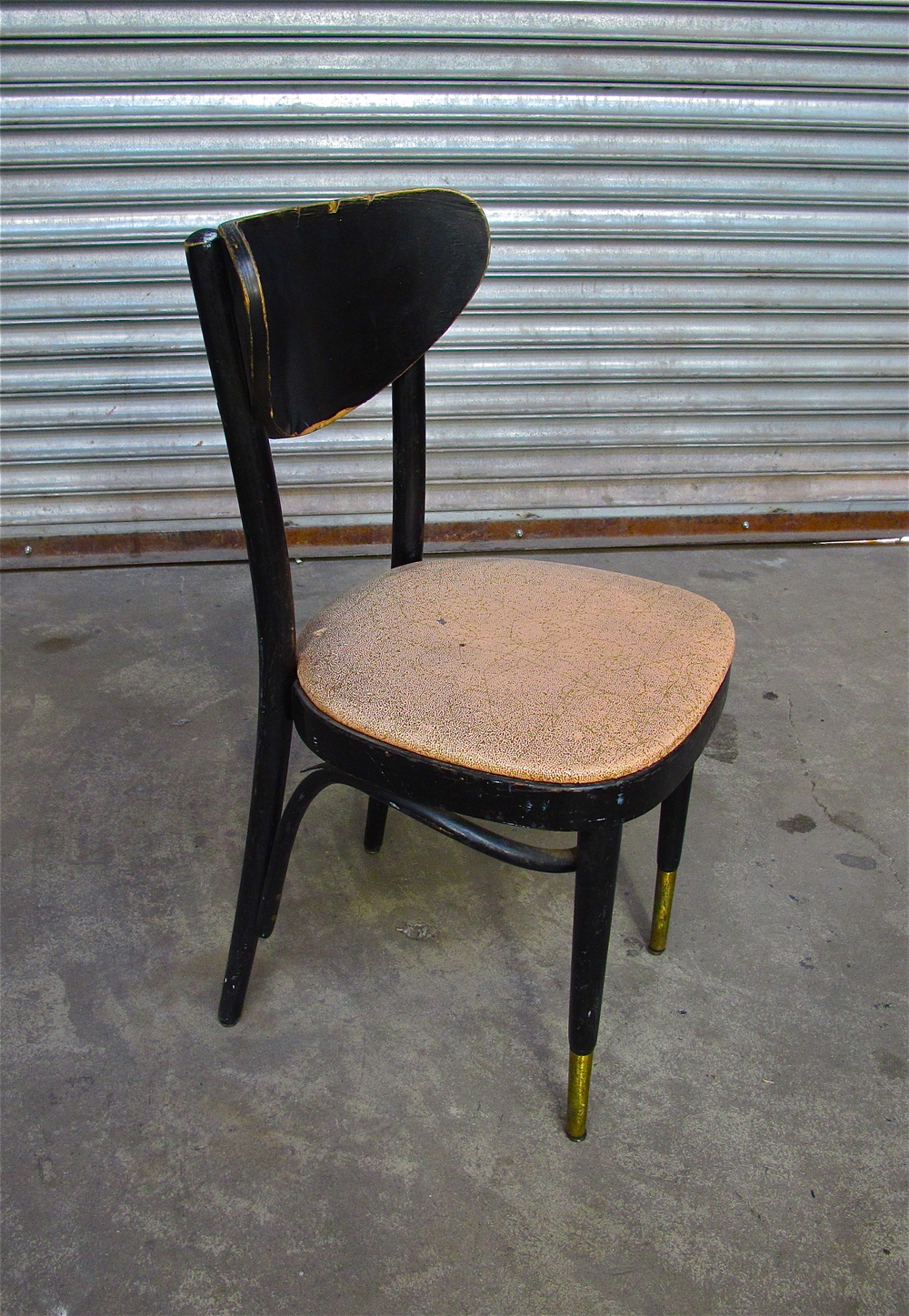 Pink Sparkle Black Wood Cafe Chair $35