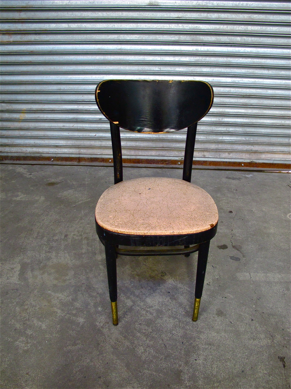 Pink-Sparkle Black Wood Cafe Chair $35