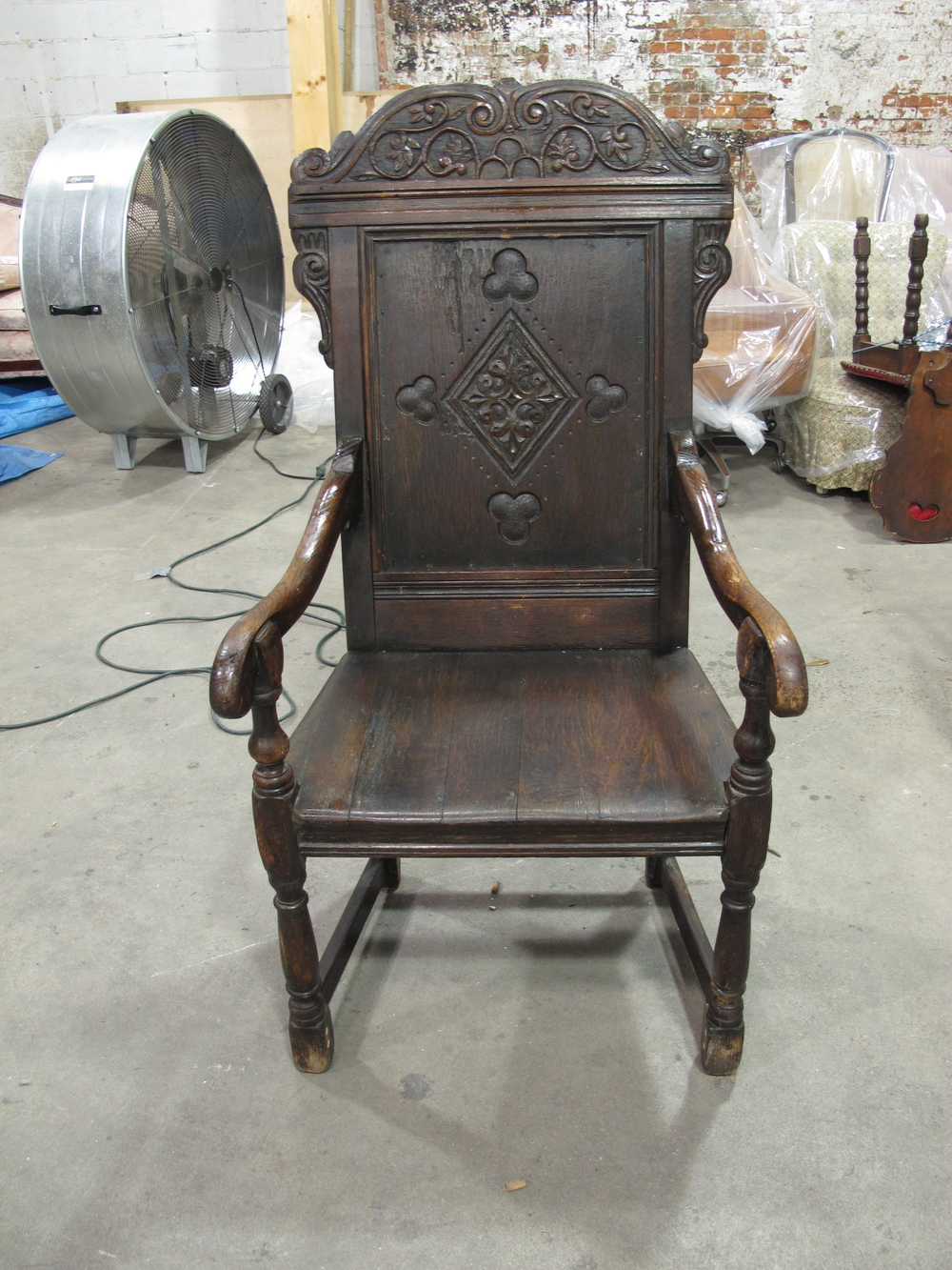 'Ace of Hearts' Carved Wood Throne $150