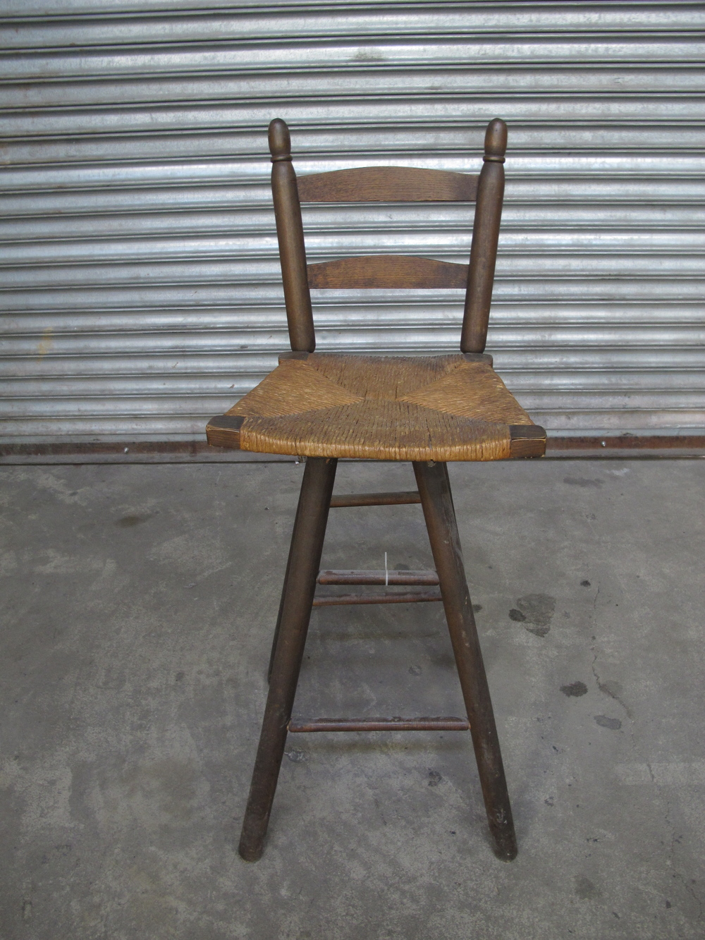 Wood Antique Woven-seat High Chair $25