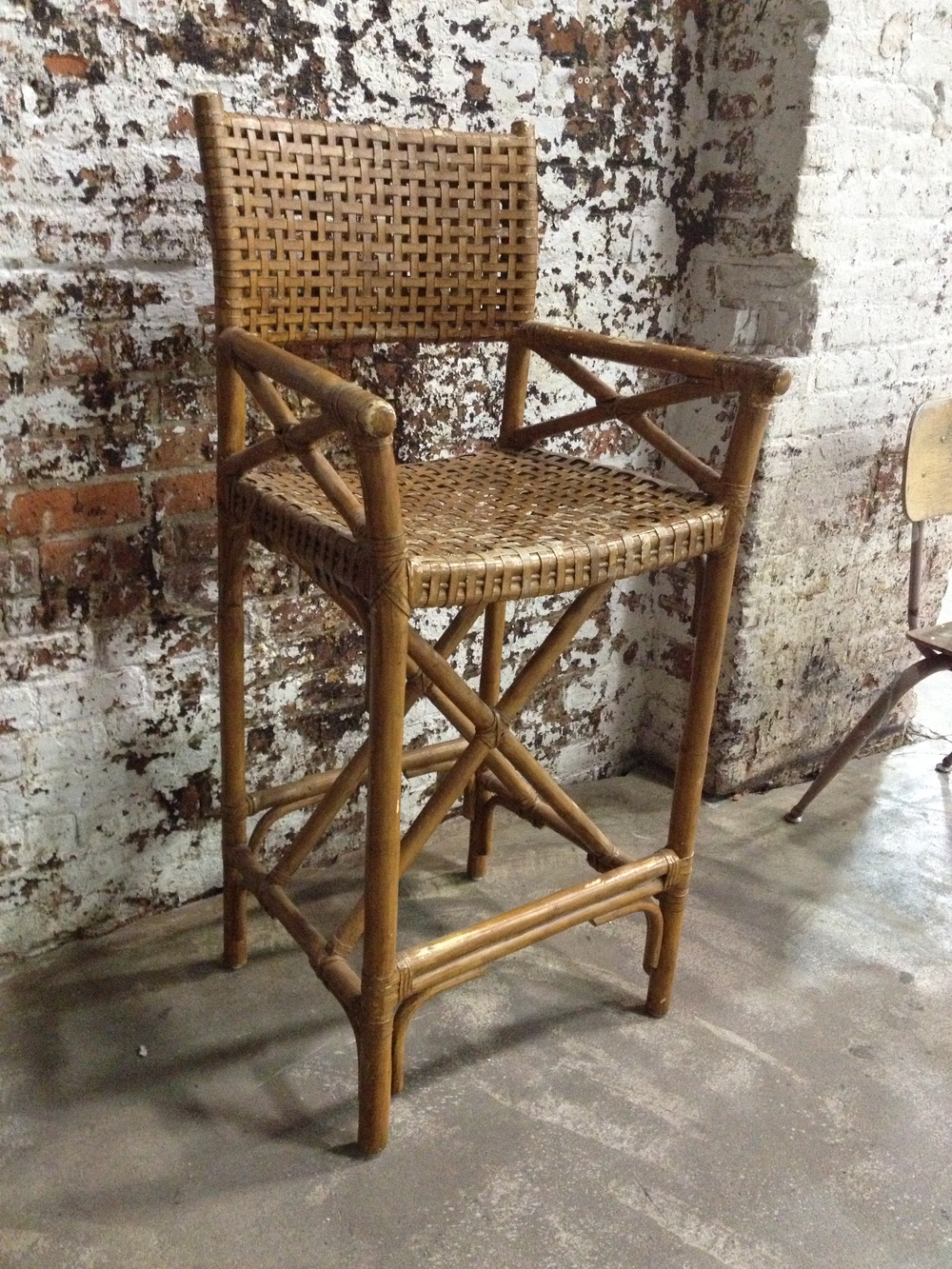 Woven Rattan High Bar Seat $60