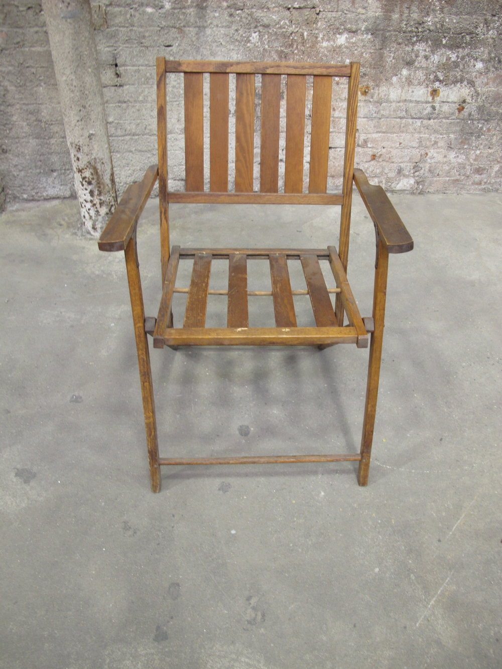 Wood folding beach chair $50