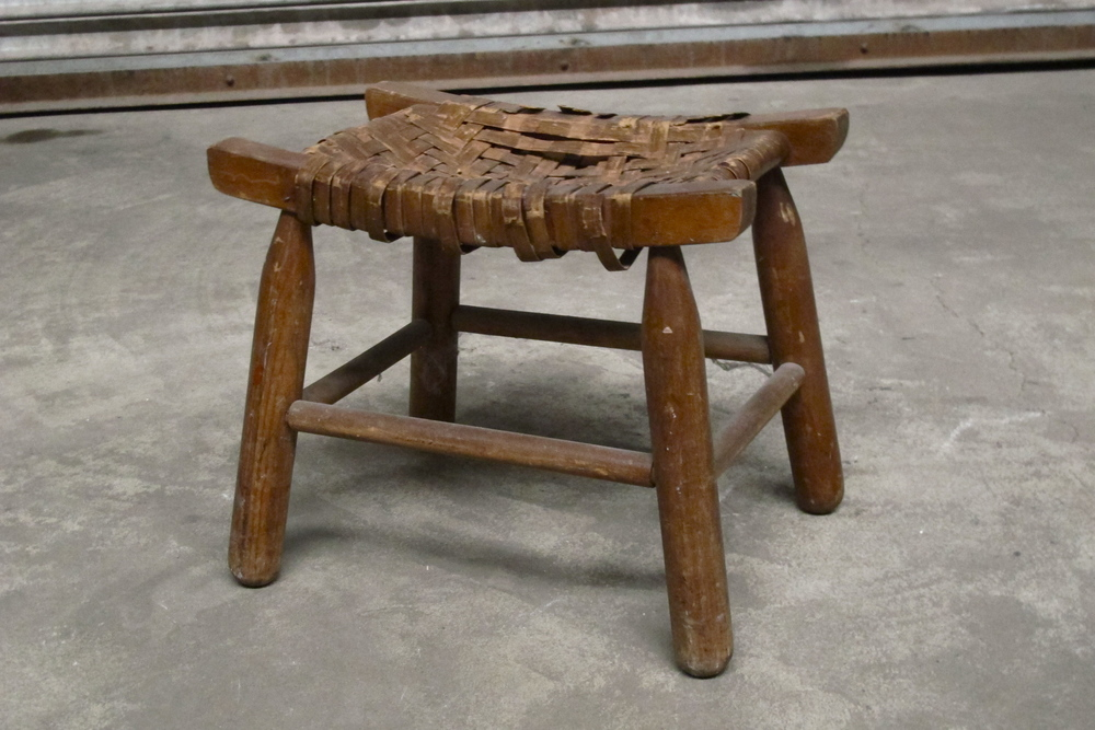 Antique woven footrest $40