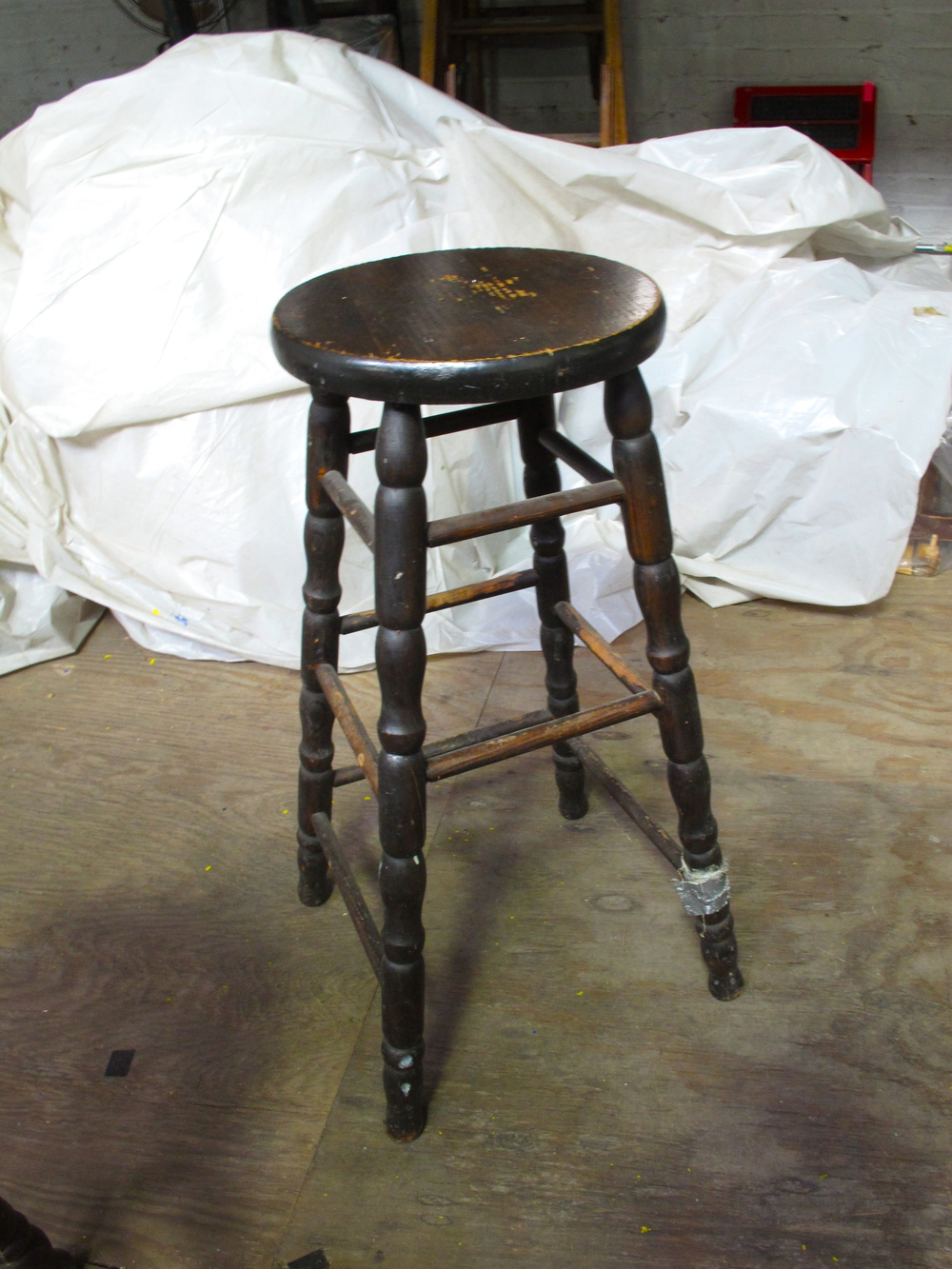 ark Wood Turned-Leg Stool $30