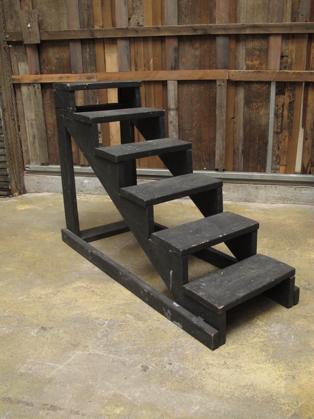 Black 6-Step Wood Stairs