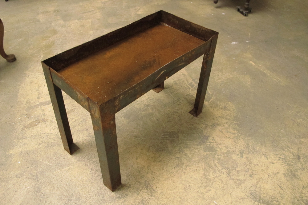 Rusted Metal Small Table $25