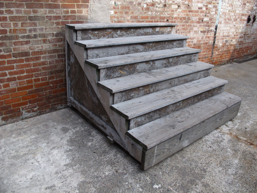 Grey Large Wood 6 Step Quot Stoop Stairs Quot