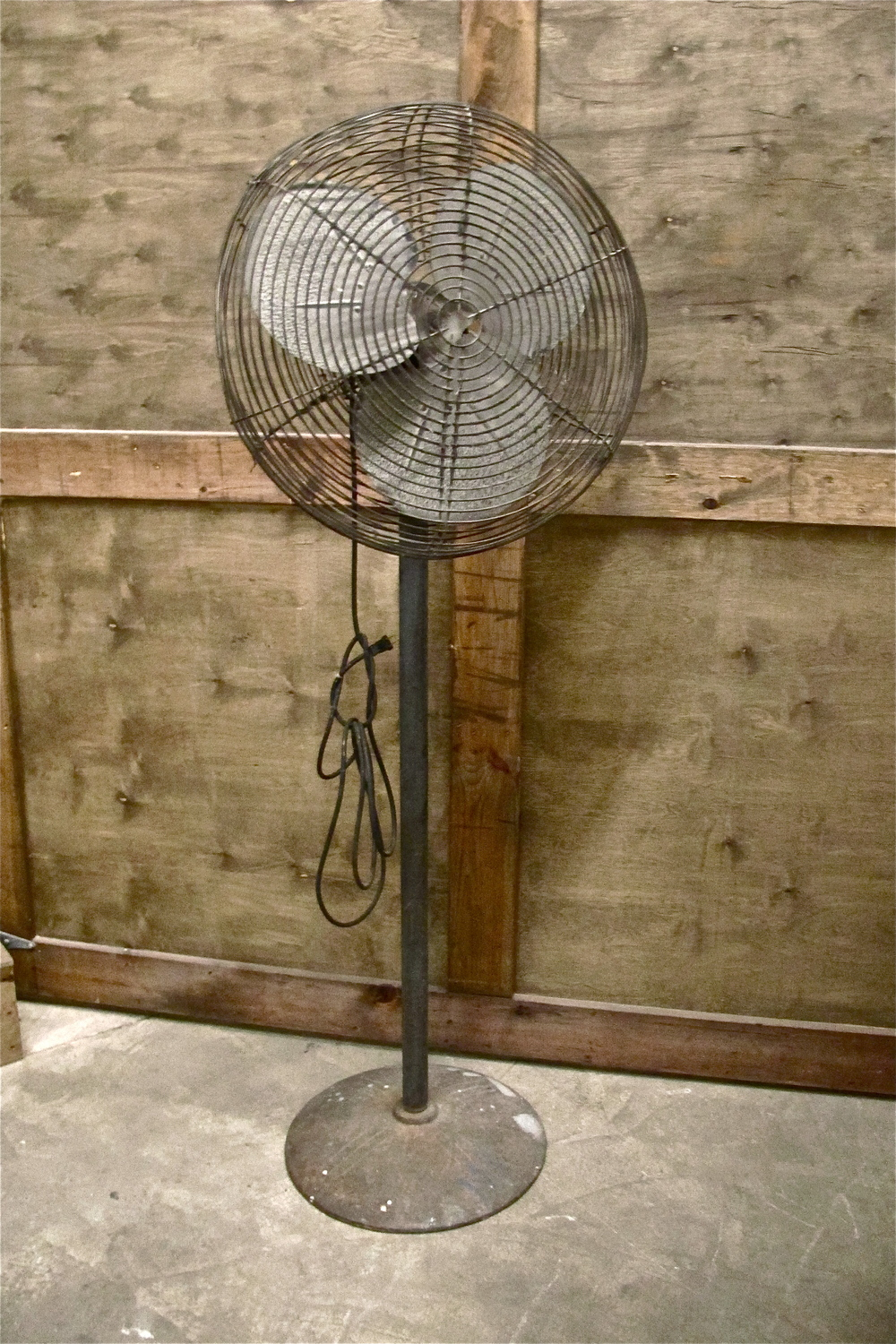 Vintage Stand-up Metal Fan with 3 Blades $100