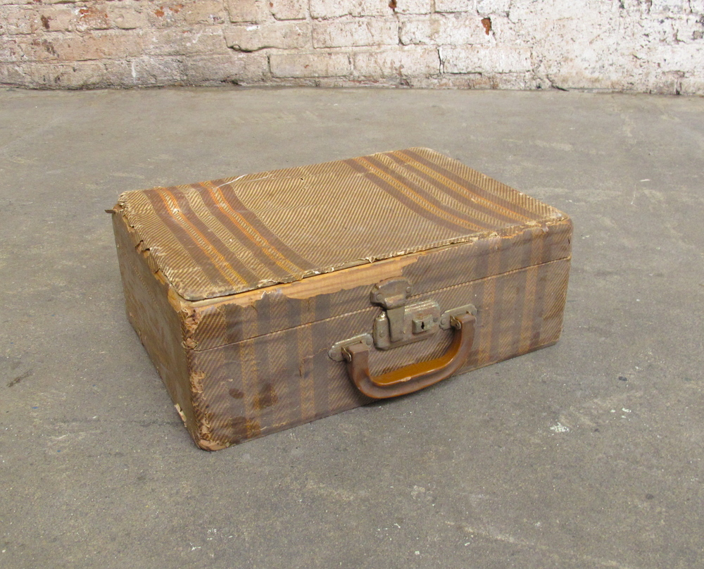 Distressed Wooden Suitcase