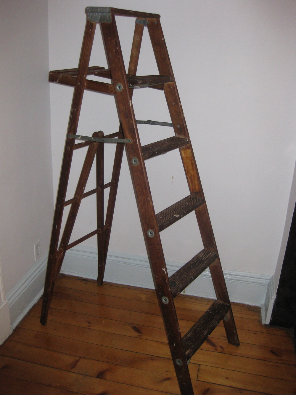 Dark Wood Ladder