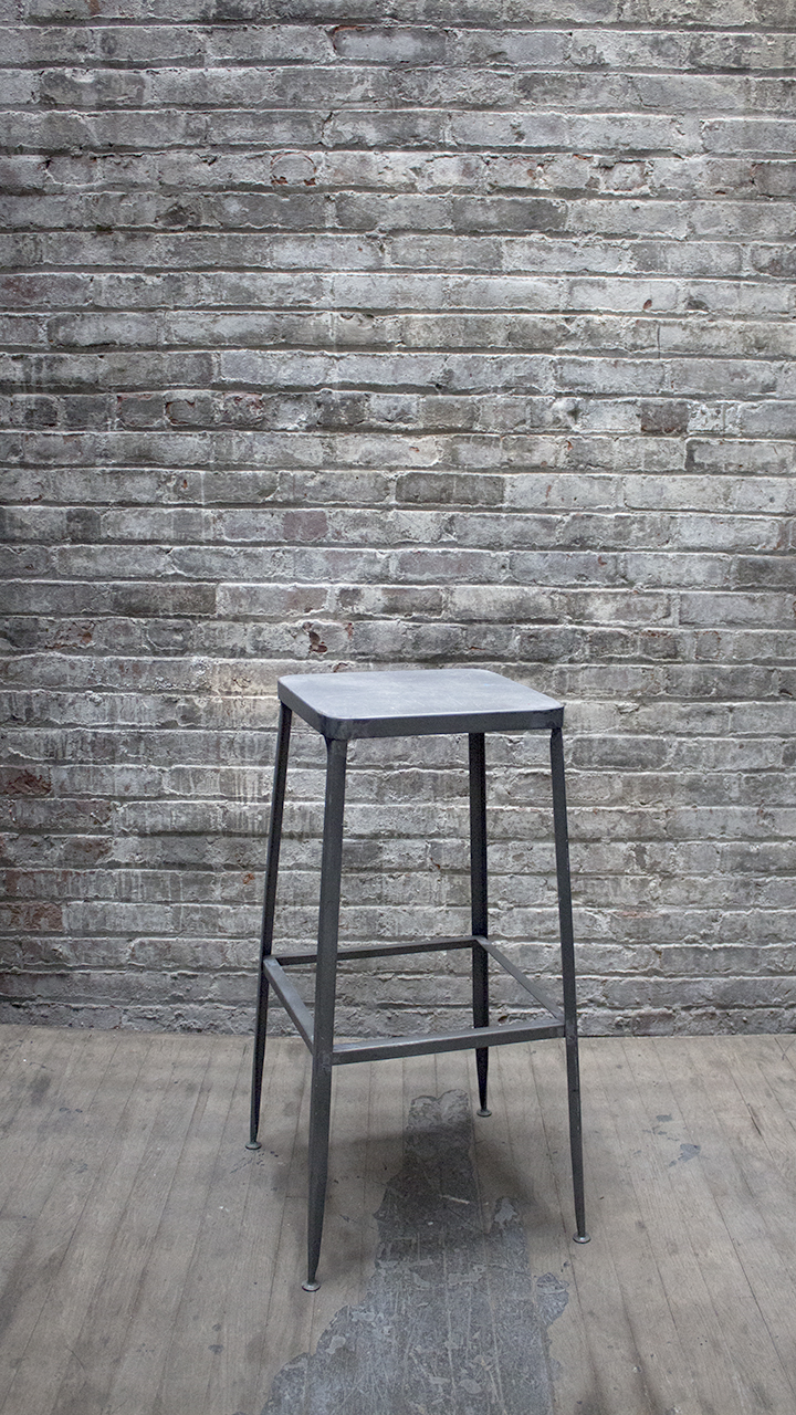 Square Metal Work Stool $48