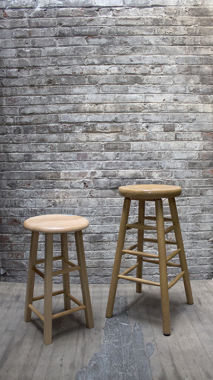 Basic Wood Stool - short (1) $30/ea