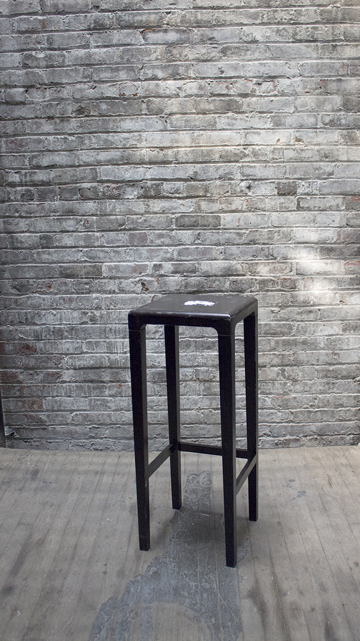 Black Square Stool $55