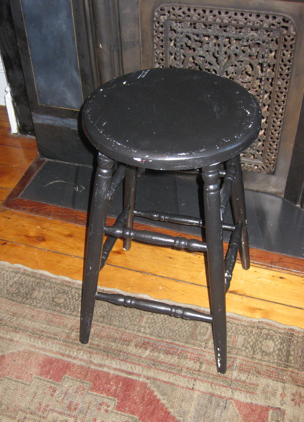 Low Black Stool $36
