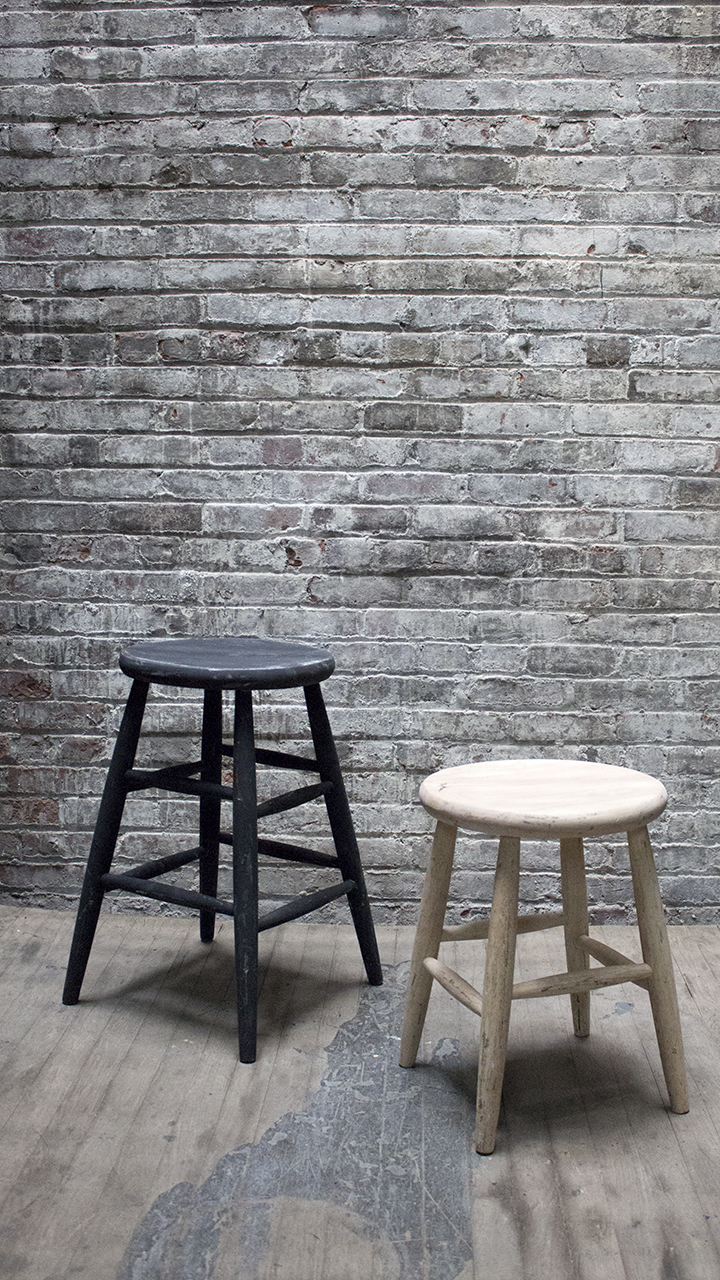 Black and White Assorted Stools $30/ea