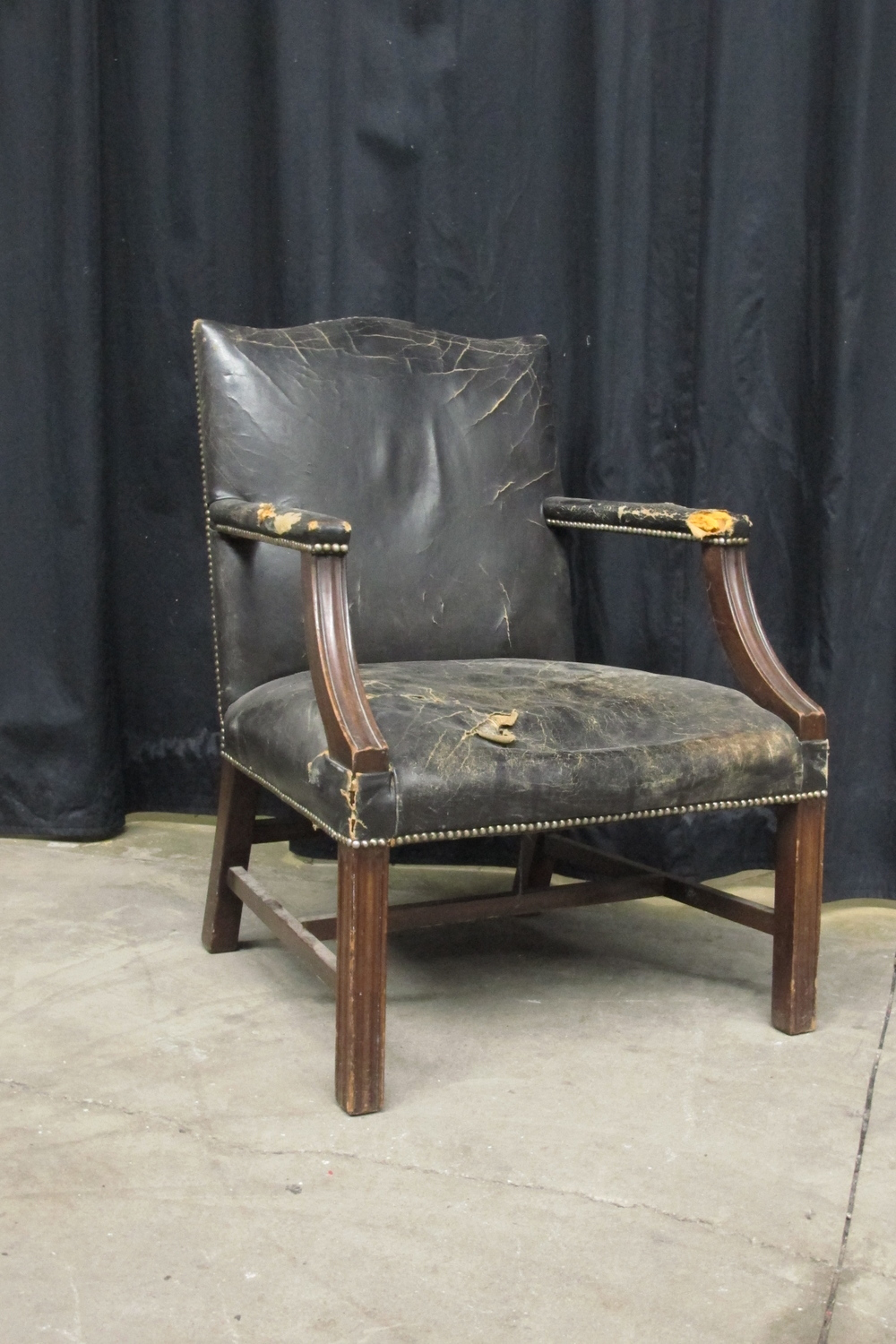 lack Leather Armchair $150
