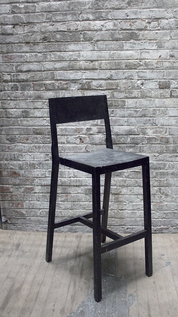 Tall Black Stool with back $60