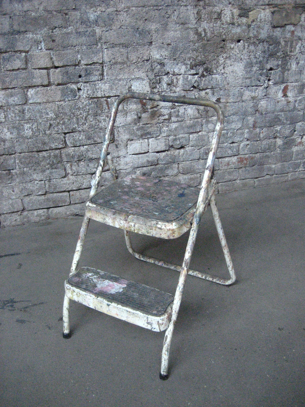 Painter's white two-step stool $30
