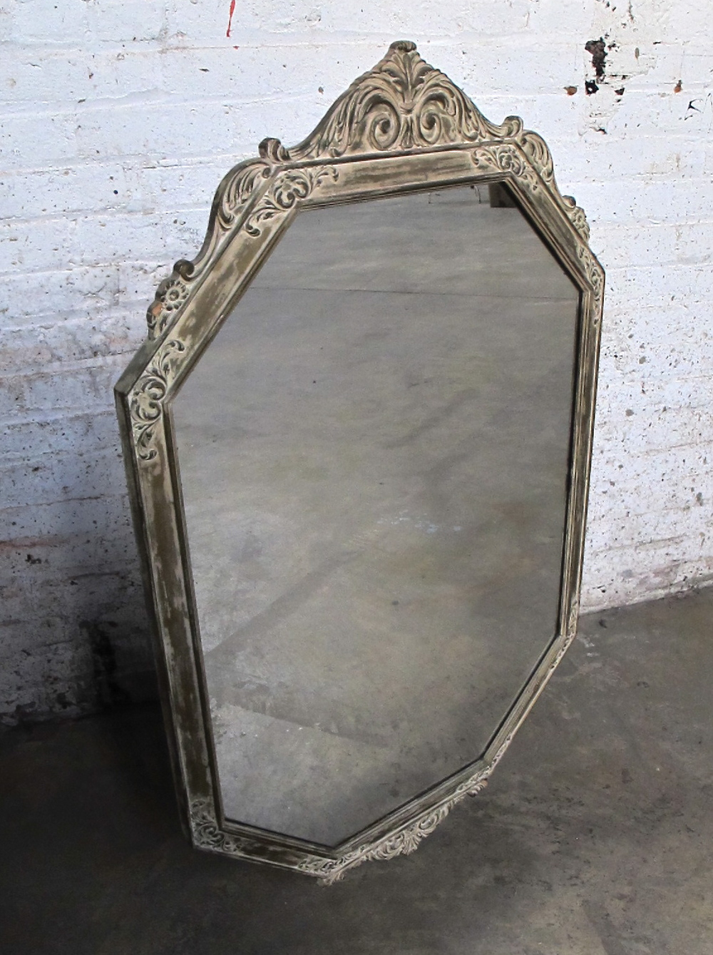 Ornate Ovally Octagon Mirror $100