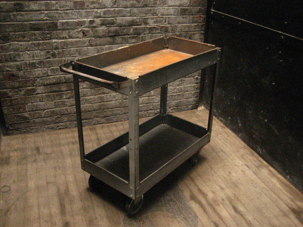 Metal Tool Cart on Wheels