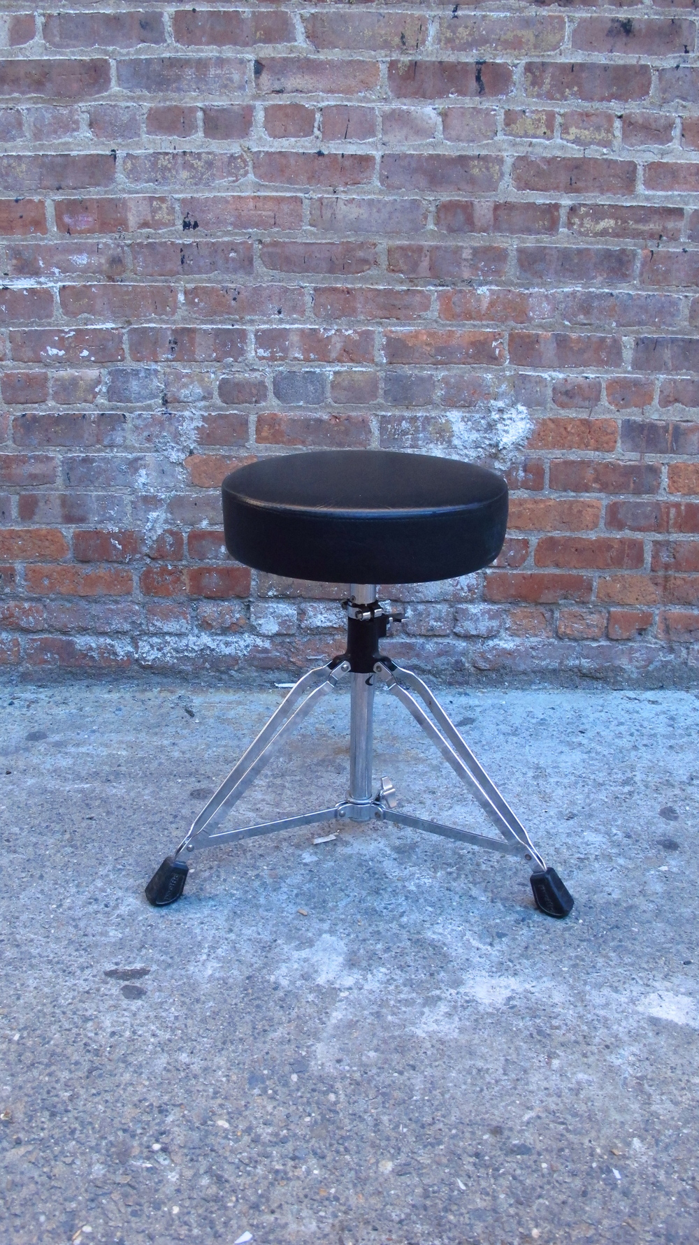Metal and Black vinyl Musicians stool $30