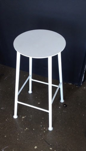 "White Metal Stool 28"" $75"