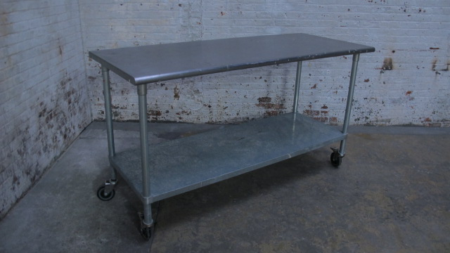 Silver Metal Rolling Table $150