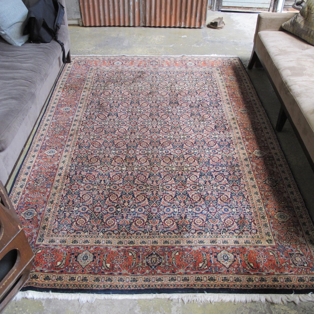 Large Bordered Pattern Rug $300
