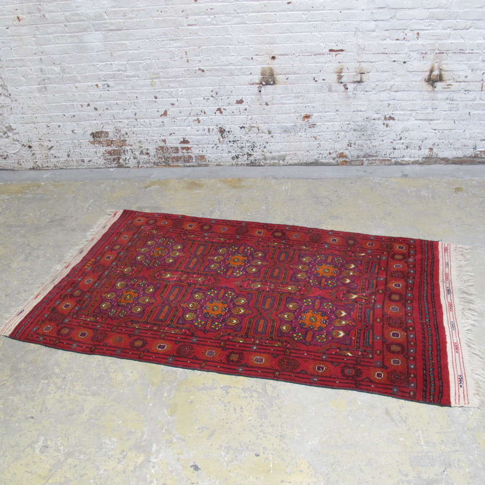 Red Patterned Rug $200